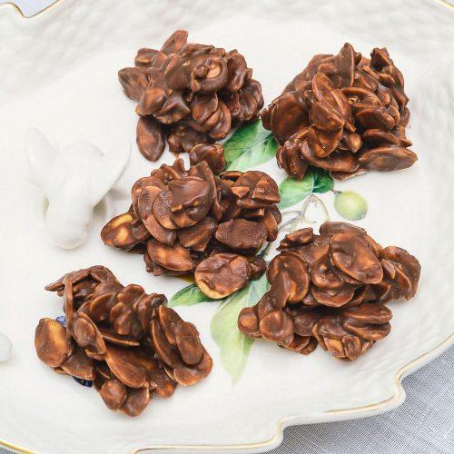 Bombom Crispy de Amêndoas e Chocolate